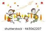 family  fall of travel | Shutterstock .eps vector #465062207