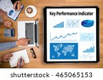 kpi acronym  key performance... | Shutterstock . vector #465065153