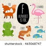 cute animal alphabet set  ... | Shutterstock .eps vector #465068747
