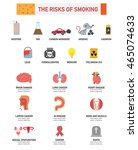 the risk of smoking... | Shutterstock .eps vector #465074633