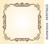 decorative frames .vintage... | Shutterstock .eps vector #465076613