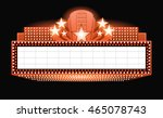 vector theater with lights and... | Shutterstock .eps vector #465078743
