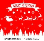 merry christmas santa claus and ... | Shutterstock .eps vector #465087617