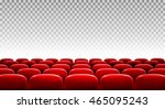 rows of red cinema or theater... | Shutterstock .eps vector #465095243