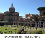 the roman forum surrounded by... | Shutterstock . vector #465107843