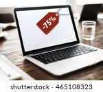 sale discount label tag... | Shutterstock . vector #465108323