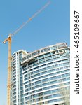 tower crane builds the house ... | Shutterstock . vector #465109667