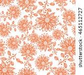 vector seamless floral pattern. ...   Shutterstock .eps vector #465112727