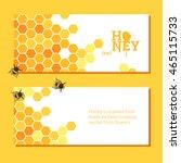 honeycombs bright vector... | Shutterstock .eps vector #465115733