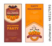 pumpkins group and text.... | Shutterstock .eps vector #465117593