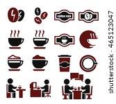 coffee cafe icon set