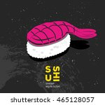 vintage printable drawn sushi... | Shutterstock .eps vector #465128057