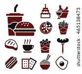 eating icon set