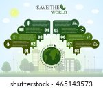 the concept of saving the world.... | Shutterstock .eps vector #465143573