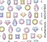 seamless pattern with diamonds  ... | Shutterstock .eps vector #465147803