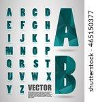 vector alphabet mosaic font low ... | Shutterstock .eps vector #465150377