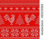 red holiday seamless pattern... | Shutterstock .eps vector #465153563