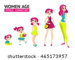 set of characters in cartoon... | Shutterstock .eps vector #465173957