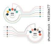 vector circle infographic.... | Shutterstock .eps vector #465186677