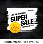 super sale banner. sale poster | Shutterstock .eps vector #465196043