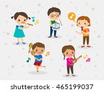 vector cartoon illustration of... | Shutterstock .eps vector #465199037