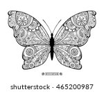 amazing fly butterfly. wild... | Shutterstock .eps vector #465200987