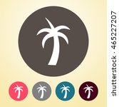 palm tree icon in round shape. | Shutterstock .eps vector #465227207