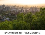 sunset in almaty city | Shutterstock . vector #465230843
