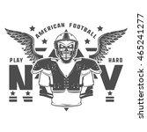 american football play hard... | Shutterstock .eps vector #465241277