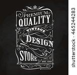 western hand drawn frame... | Shutterstock .eps vector #465244283