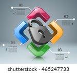 business infographics origami... | Shutterstock .eps vector #465247733