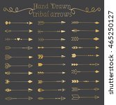 hand drawn doodle arrows set.... | Shutterstock .eps vector #465250127