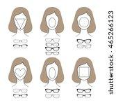 different glasses shapes for... | Shutterstock .eps vector #465266123