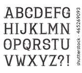set of black letters of grainy... | Shutterstock .eps vector #465269093