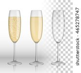 full and empty glass of... | Shutterstock .eps vector #465278747