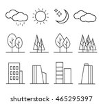 urban landscape design elements ... | Shutterstock . vector #465295397