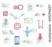mail related flat icons. postal ...