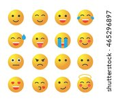 emoticon set. collection of... | Shutterstock . vector #465296897