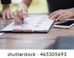 businessman checking graph with ...   Shutterstock . vector #465305693