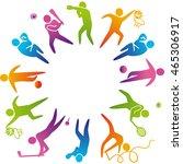 world of sports. illustration... | Shutterstock . vector #465306917