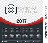calendar for 2017 year. vector... | Shutterstock .eps vector #465314447