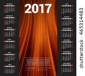 calendar for 2017 year. vector... | Shutterstock .eps vector #465314483