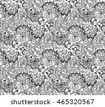 seamless black and white floral ... | Shutterstock .eps vector #465320567