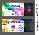 gift voucher. vector ... | Shutterstock .eps vector #465322103