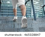 young man running on stairs | Shutterstock . vector #465328847
