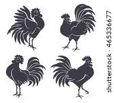 black rooster silhouettes...