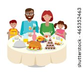 happy multicultural family... | Shutterstock . vector #465352463