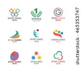 sport games logo icons design ... | Shutterstock .eps vector #465353747