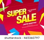 super sale banner. sale poster   Shutterstock .eps vector #465360797
