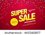 super sale banner. sale poster | Shutterstock .eps vector #465360857